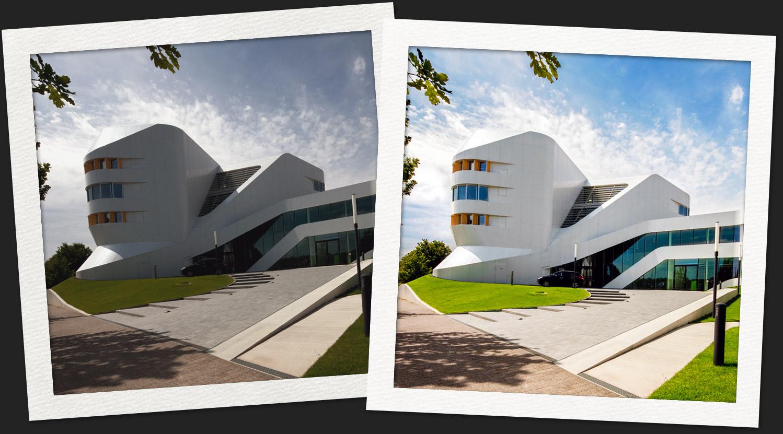 architektur bildbearbeitung